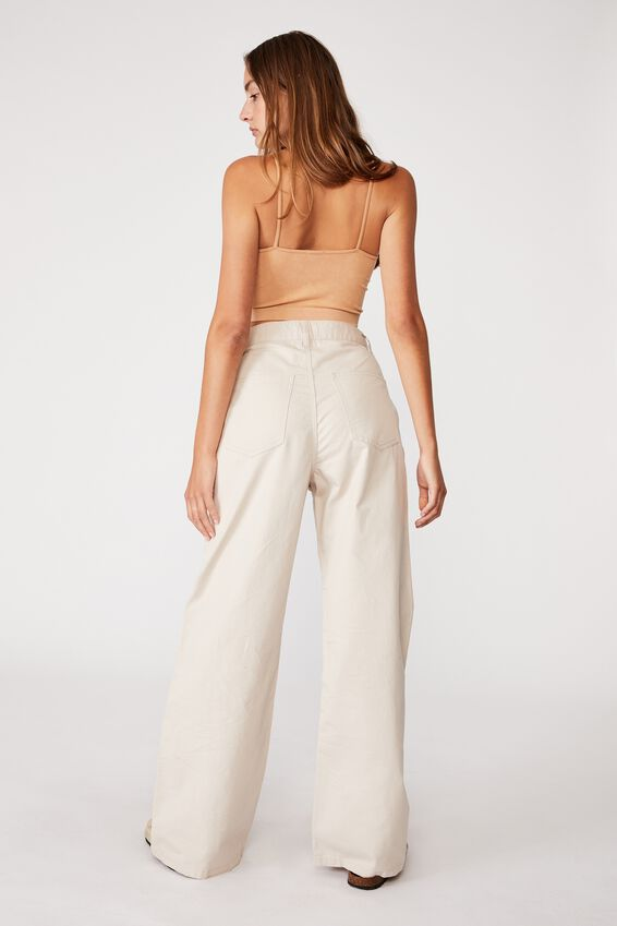 Parker Long Straight Pant, TAUPE