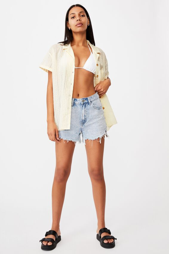 Poolside Shirt, WHITE SEASHELL