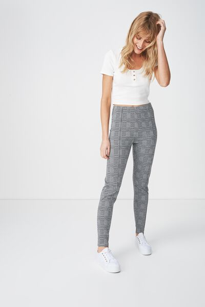 Dantea Legging, WHITE/BLACK MAYHEM CHECK
