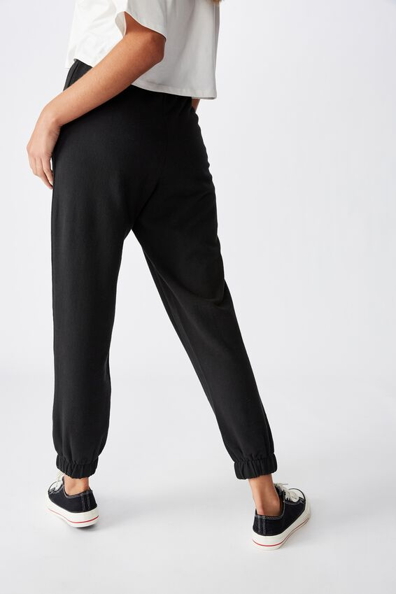 High Waisted Trackpant, WASHED BLACK