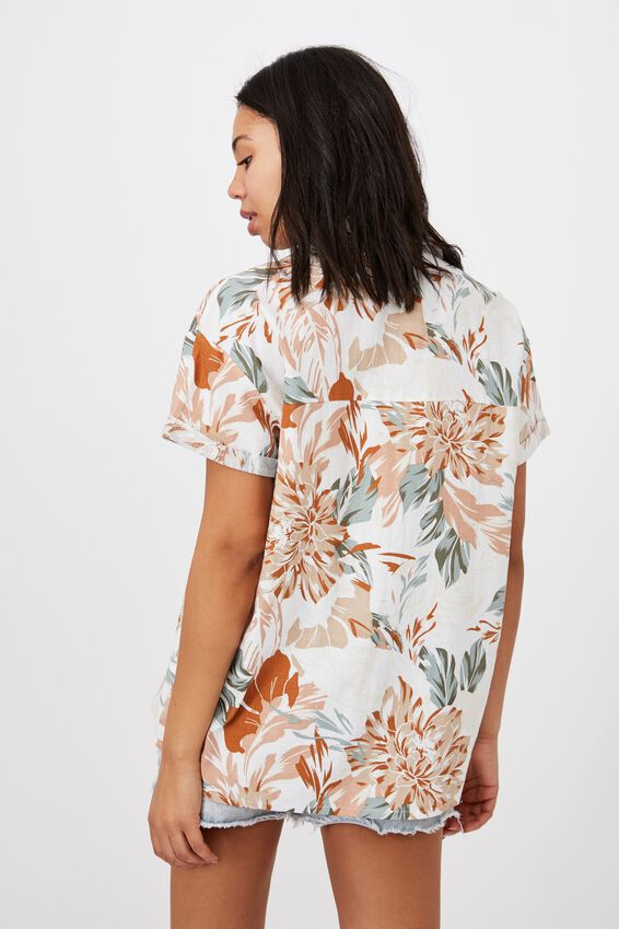 Poolside Shirt, CAMILLE TROPICAL NEAUTRAL