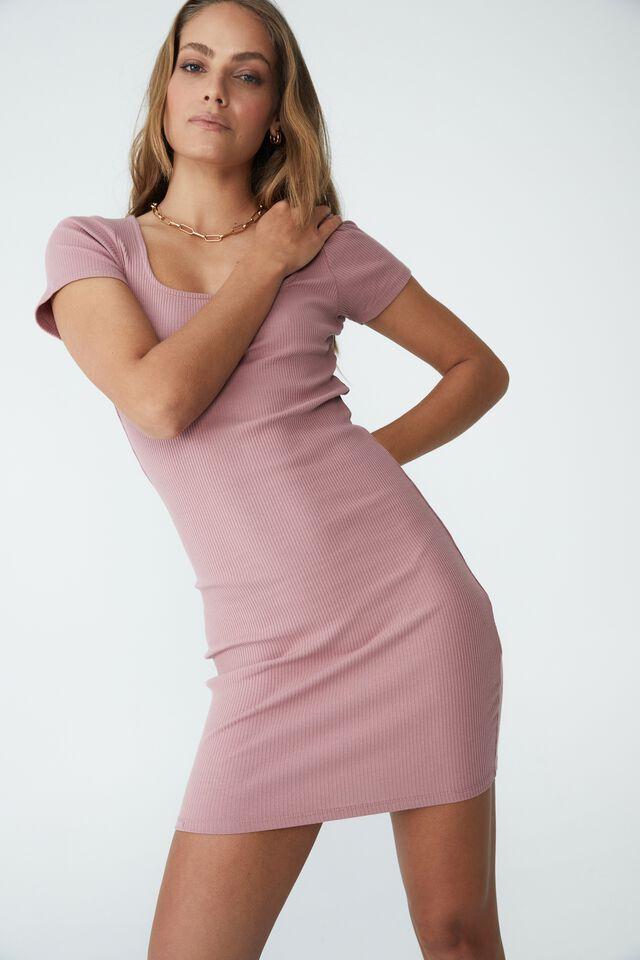 Essential Mini Dress, CINNAMON