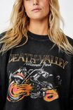 Harper Boxy Crew Graphic Fleece, DEATH VALLEY/BLACK