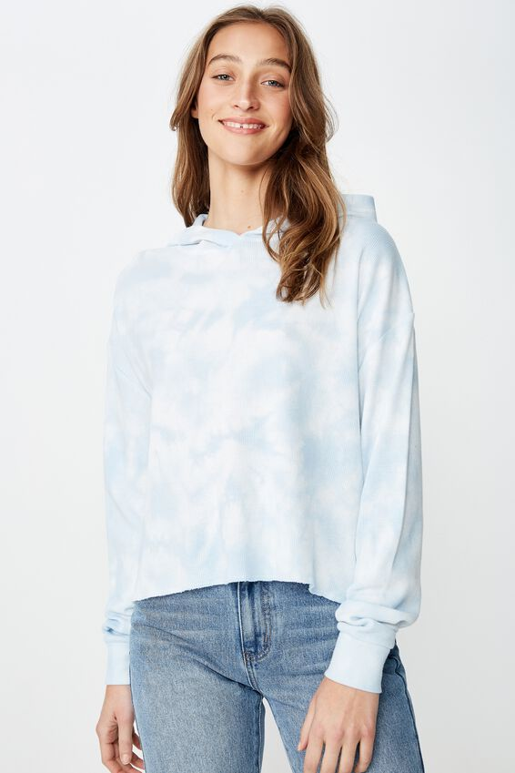 Willow Waffle Hoodie, NEW JERSEY WHITE/TIE DYE