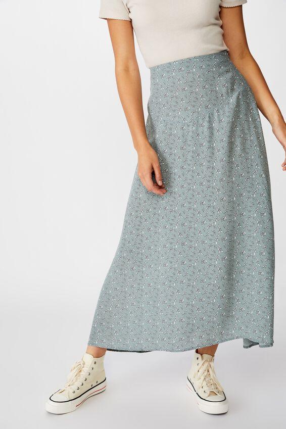Florence Midi Skirt, JENNY LEAF CHINOIS GREEN