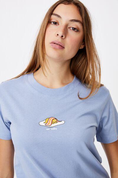 Classic Pop Culture T Shirt, LCN SAN GUDETAMA NOT TODAY/VINTAGE BLUE