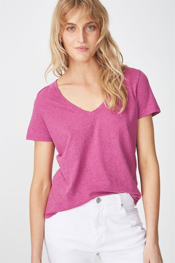 The Deep V, CLOVER PURPLE/BLACK FLECK