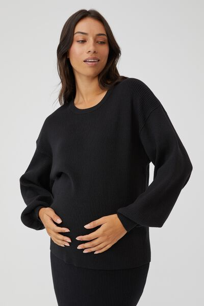 Maternity Friendly Ultimate Pullover, BLACK
