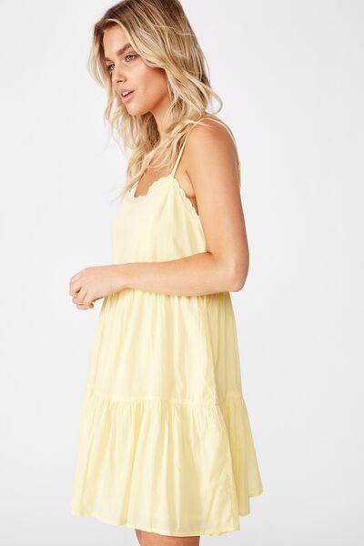 Woven Birdie Tiered Mini Dress, SUNDRESS