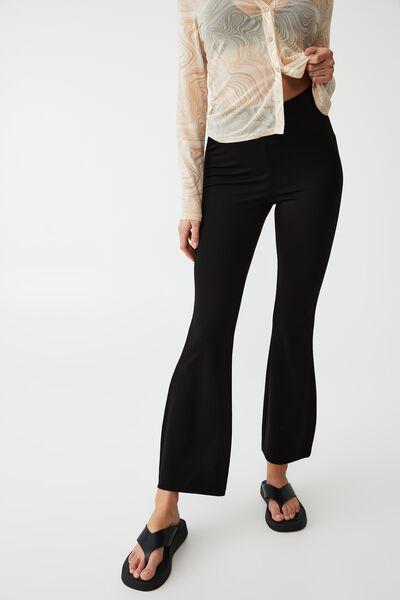 Petite Pull On Flare Pant, BLACK