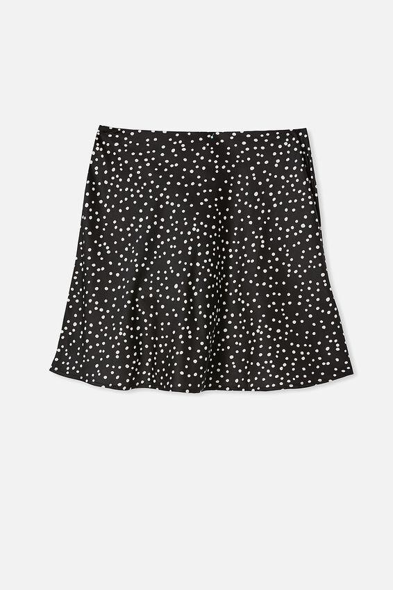 Simple Slip Mini Skirt, SIMONE SPOT BLACK