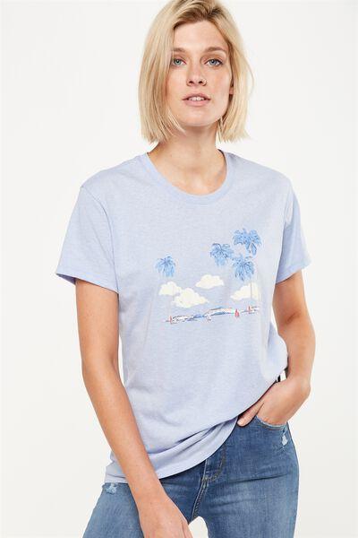Tbar Fox Graphic T Shirt, VINTAGE ISLAND/BLUE HAZE MARLE