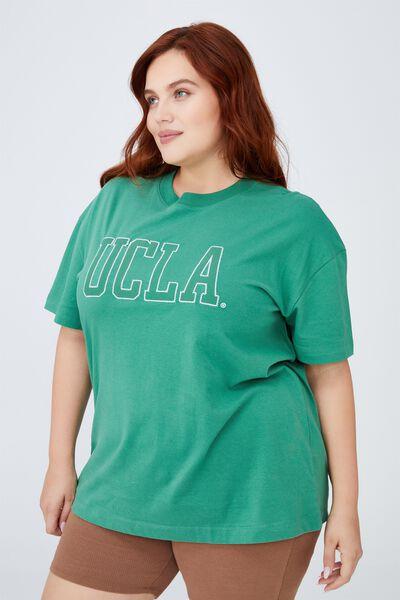 Curve Oversized License Graphic Tee, LCN UCLA UNIVERSITY OF LA/HERITAGE GREEN