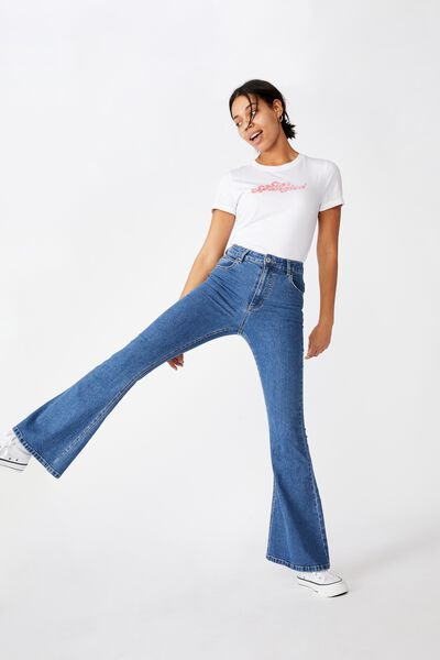 Essential Slogan T Shirt, STAR SPANGLED/WHITE