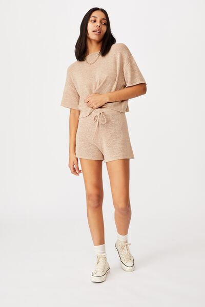 Match Me Knit Short, LATTE