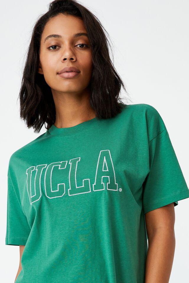Boyfriend Fit Graphic License Tee, LCN UCLA UNIVERSITY OF LA/HERITAGE GREEN