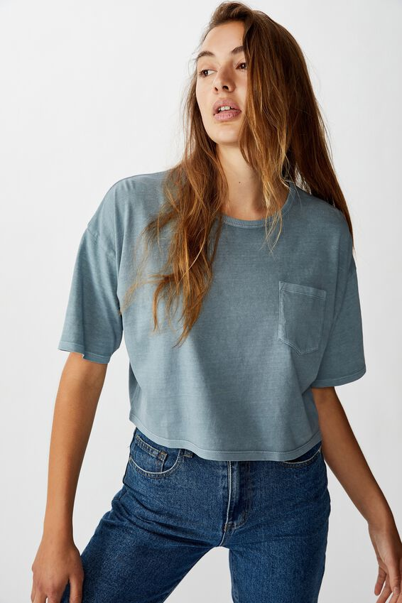 The One Slouch Pocket Tee, WASHED TRADEWINDS