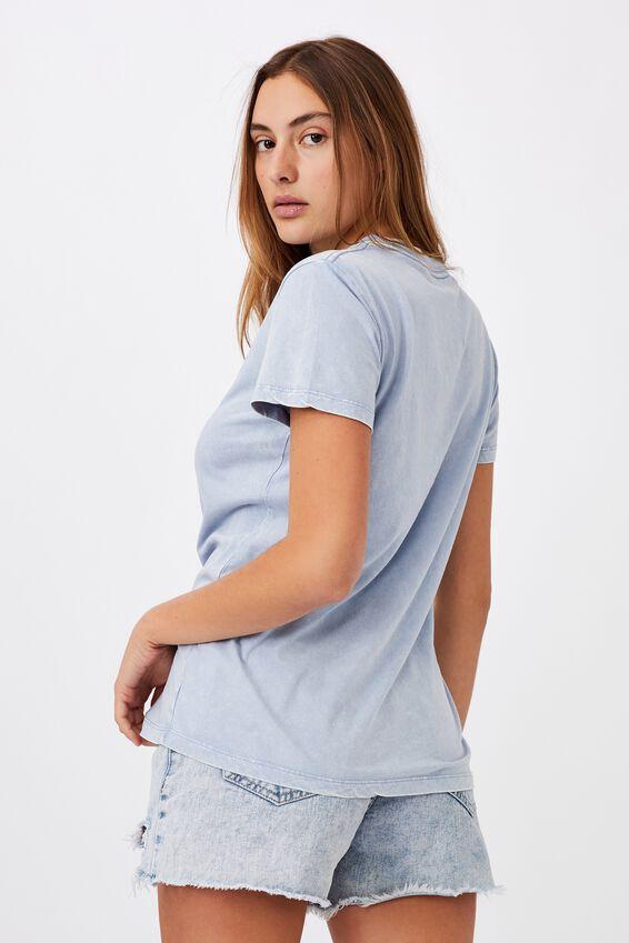 Classic Arts T Shirt, BLUE BUTTERFLIES/VINTAGE BLUE