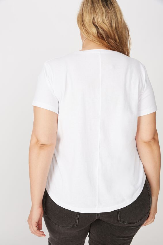Curve The One Crew Tee, WHITE