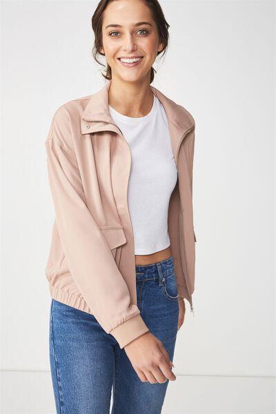 Stella Soft Military Jacket, BLUSH