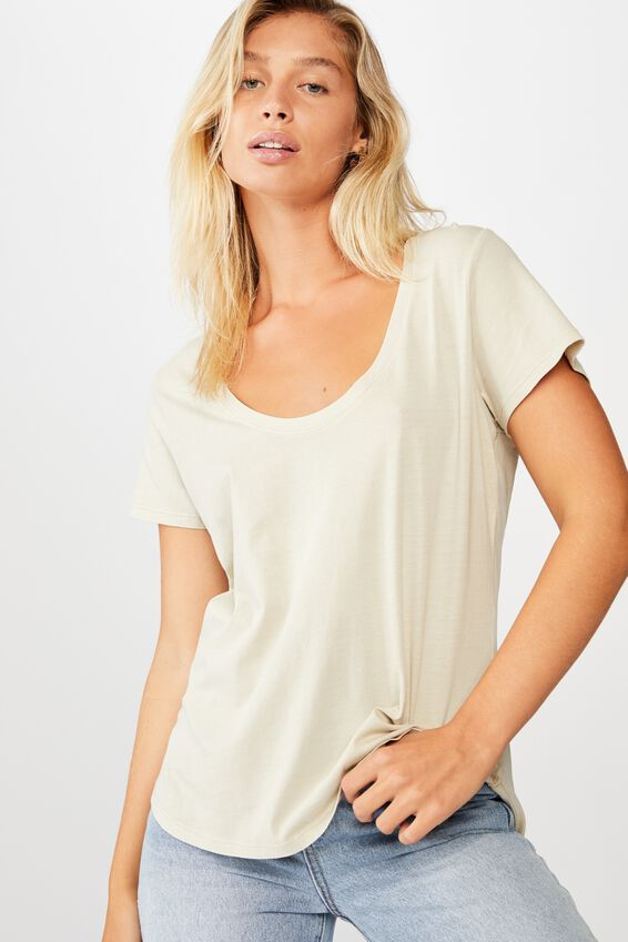 The One Scoop Tee, WASHED SOFT SAND