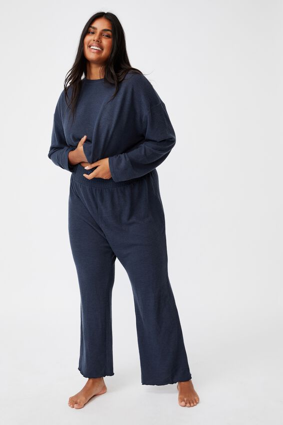 Curve Super Soft Lounge Pant, MAGNET BLUE MARLE