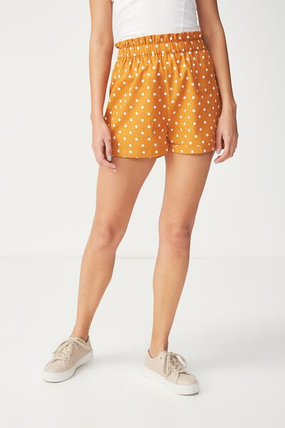 Maisy Paperbag Short, LENY SPOT INCA GOLD