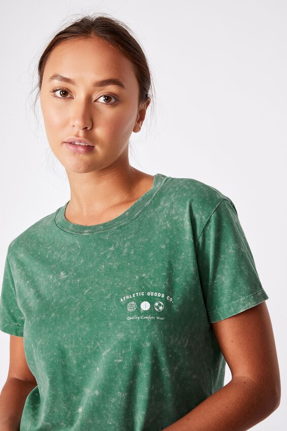 Classic Slogan T Shirt, ATHLETIC GOODS CO/HERITAGE GREEN
