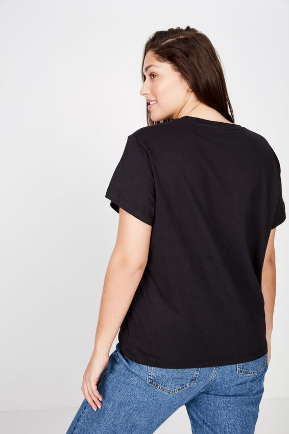 Curve Graphic Tee, EXCLUSIVE ME/BLACK