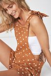 Woven Jessica Playsuit, MAPLE COIN SPOT