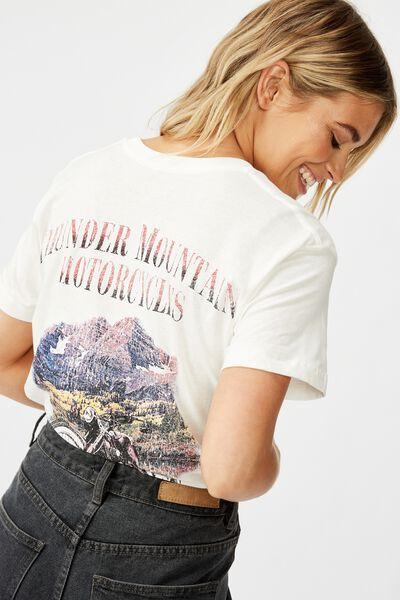 Classic Vintage T Shirt, THUNDER MOUNTAIN/GARDENIA