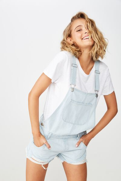 The Classic Denim Overall, LIGHT BLUE RIP