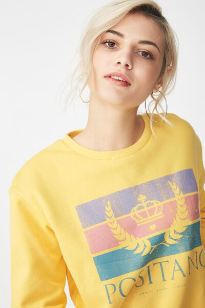 Ferguson Graphic Crew Sweater, POSITANO/BUTTERCUP