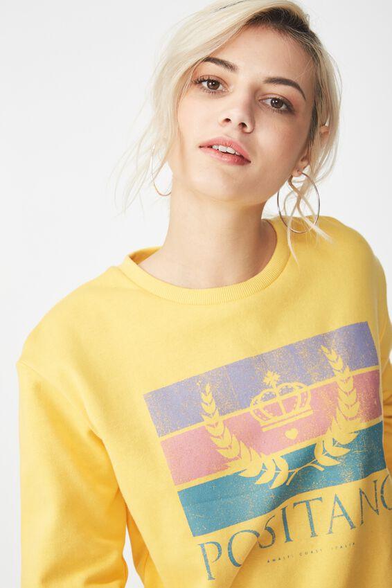 Ferguson Graphic Crew Sweater, POSITANO/BUTTERCUP