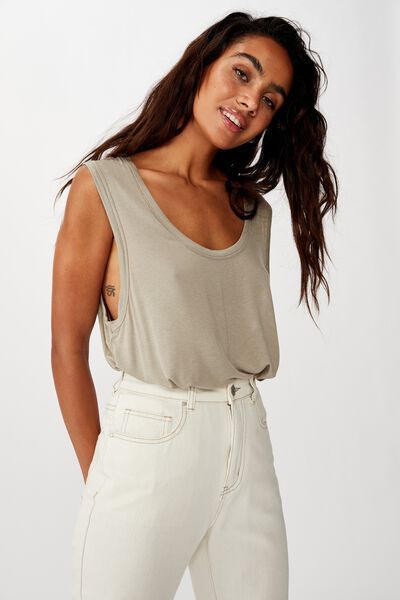 The Parker Scoop Tank, SILVER SAGE