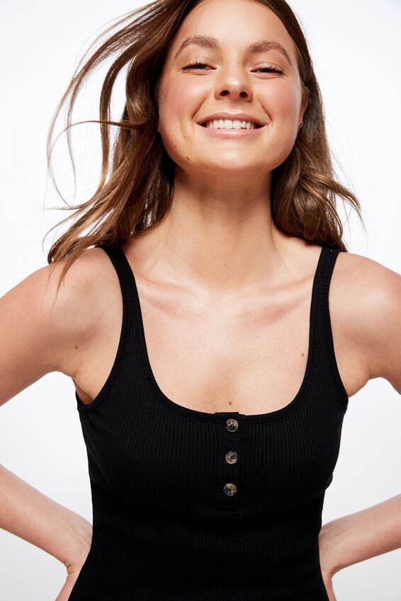Kaylee Bodycon Midi Dress, BLACK RIB