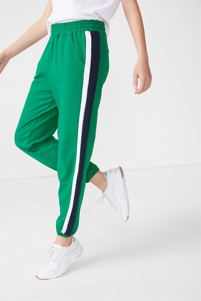 Dad Trackie, GULLY GREEN/MOONLIGHT/WHITE STRIPE
