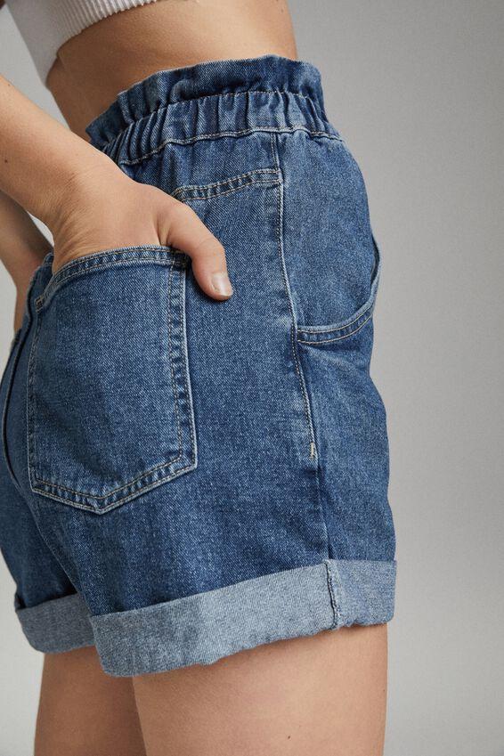 Denim Paperbag Short, COOGEE BLUE