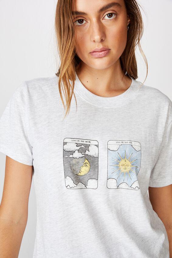 Classic Arts T Shirt, SUN MOON TAROT/SILVER MARLE