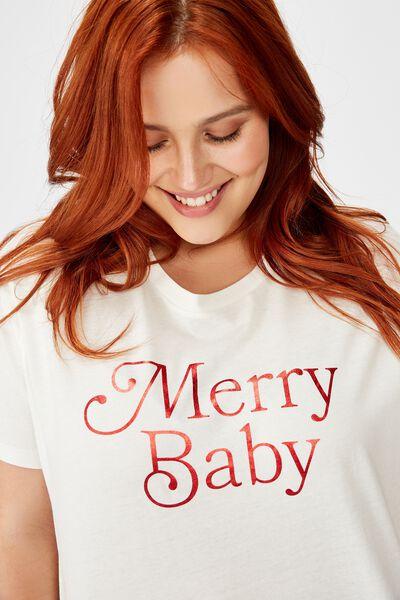 Curve Graphic Tee, MERRY BABY/GARDENIA