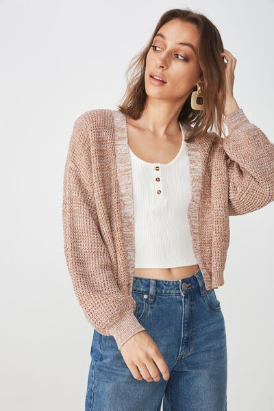 Archy Summer Cardi, PRALINE WHITE TWIST