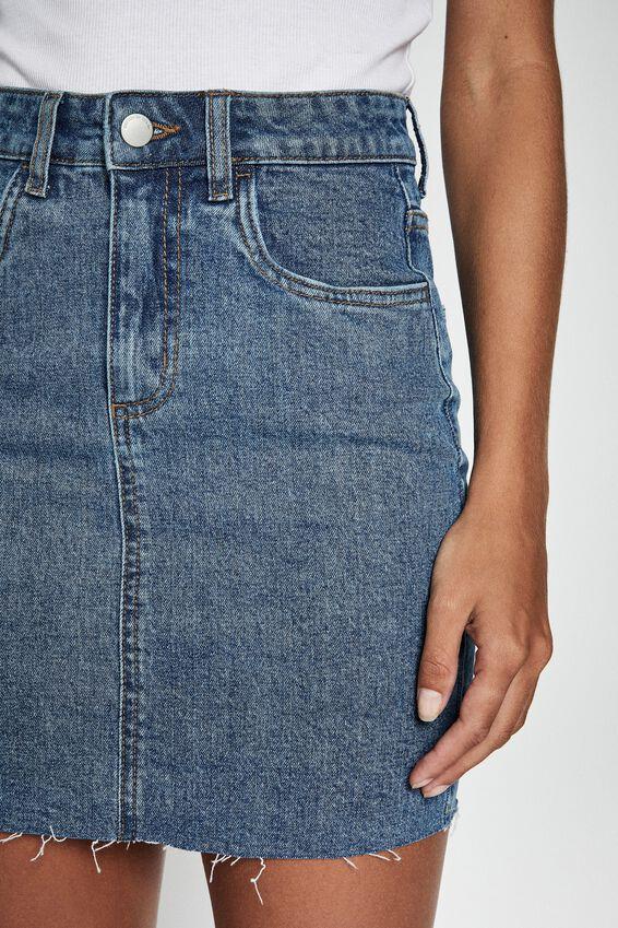 Classic Stretch Denim Mini Skirt, BERKLEY BLUE