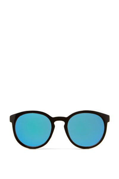 Rollin Round Sunglasses, BLACK/BLUE