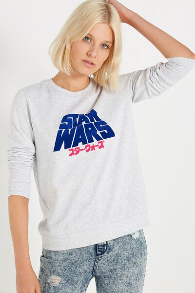 Fergi Graphic Fleece, LCN STAR WARS/SILVER MARLE