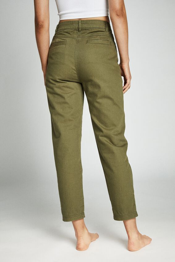 Hailey Front Yoke Pant, WASHED WINTER MOSS