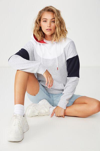 Premium Fashion Hoodie, SILVER MARLE/WHITE/MOONLIGHT/SKI PATROL