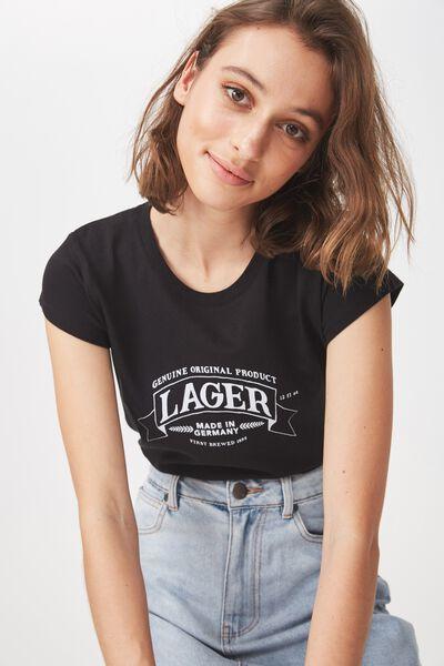 Tbar Rachael Graphic Tee Shirt, LAGER/BLACK