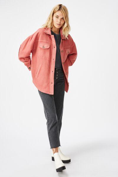 Nikki Knit Shacket, CANYON ROSE
