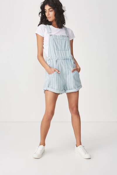 90S Overall, SOFT BLUE STRIPE