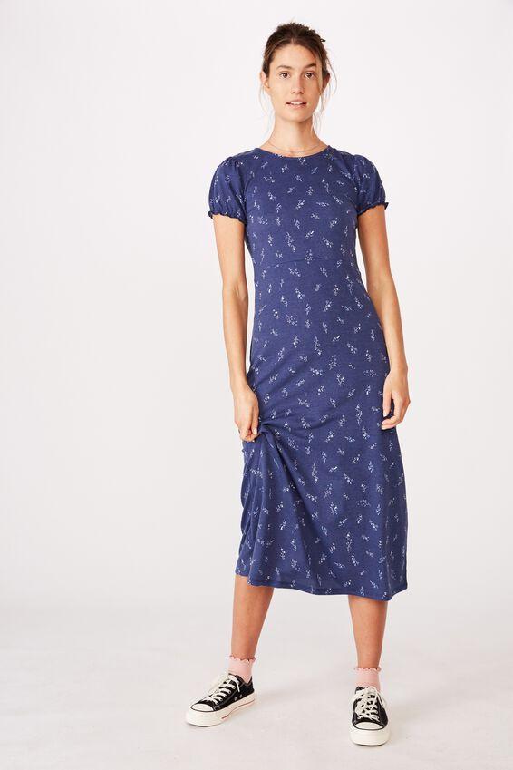 Mackayla Midi Dress, RILEY DITSY MEDIEVAL BLUE